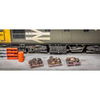 Detailed Pallets With Axleboxes (6 Pack)