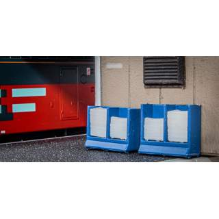 Platform Newspaper Stands & Papers (Pack of 2)