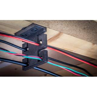 Multi Cable Management Clip For Under Baseboards